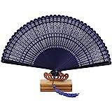 (クロック)CROCRK 総竹扇  トンボ 総彫 高級扇子 夏扇子 お中元、敬老、お誕生日、結納お土産、結婚祝いなどのプレゼント/贈り物最適 チャームや扇子入れ付