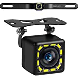 Car Backup Camera, Rear View Camera Ultra HD 12 LED Night Vision,Waterproof Reverse Camera 140° Wide View Angel with…