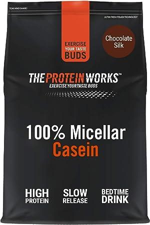 100% Caseína Micelar | Sabor Chocolate, 2 kg | Proteína de liberación lenta para antes de dormir