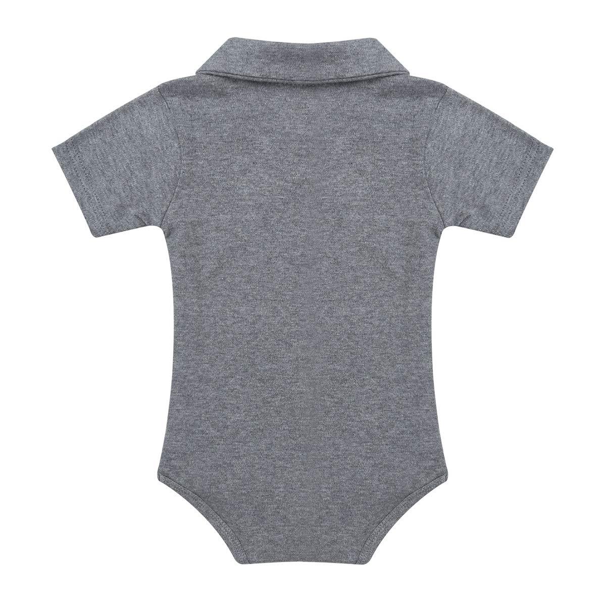 inlzdz Infant Baby Boys One Piece Cotton Short Sleeves Bodysuit T Shirts Toddler Gentleman Romper Summer Outfits
