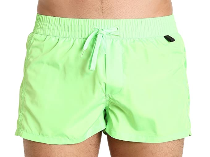 9da3b67506 Diesel Men's Sandy 2 Inch Quick Dry Fold and Go Swim Trunk, Green, Small