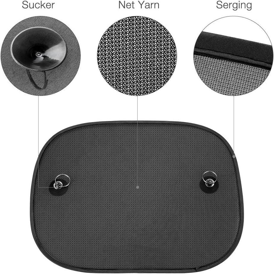 Occhiali da sole SPECOOL per auto 5 pezzi Dimensioni universali per finestrini laterali Protezione per finestre laterali e posteriori per bambini dai raggi UV e calore Facile da installare