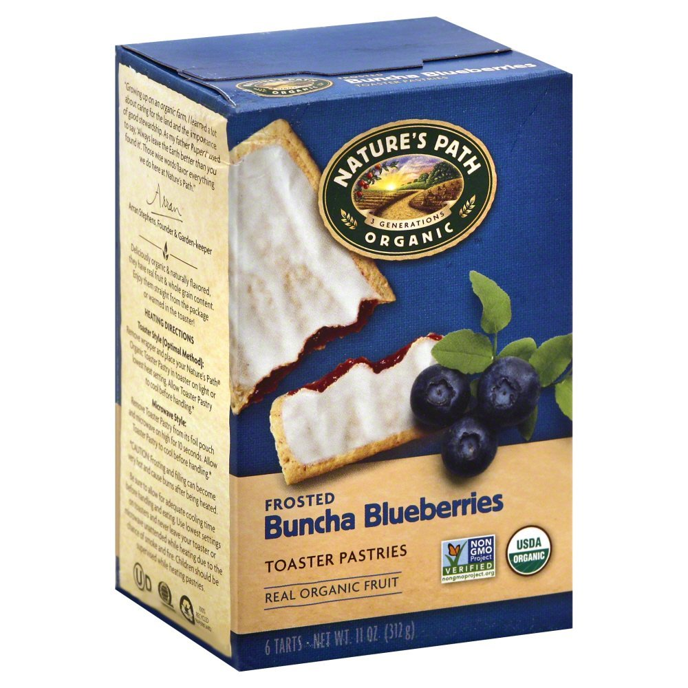 Nature's Path Organic Toaster Pastries Blueberry Frosted -- 11 oz