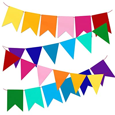 Colorful Bunting Pennant Banner Flags Party Decorations Set of 2: Toys & Games