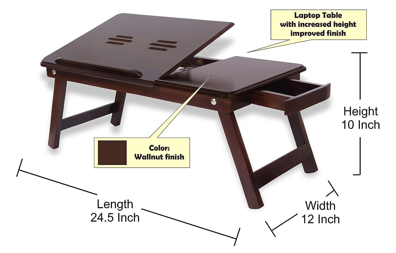 11c51b619af Amaze Shoppee Multipurpose Foldable Bed Table (Walnut Finish