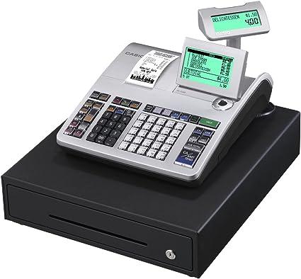 Casio SE-S400MB SR FIS GDPdU a habilitar caja registradora incluyendo licencia de software, tarjeta SD y la batería paquete completo y línea telefónica gratuita, plata/negro: Amazon.es: Oficina y papelería