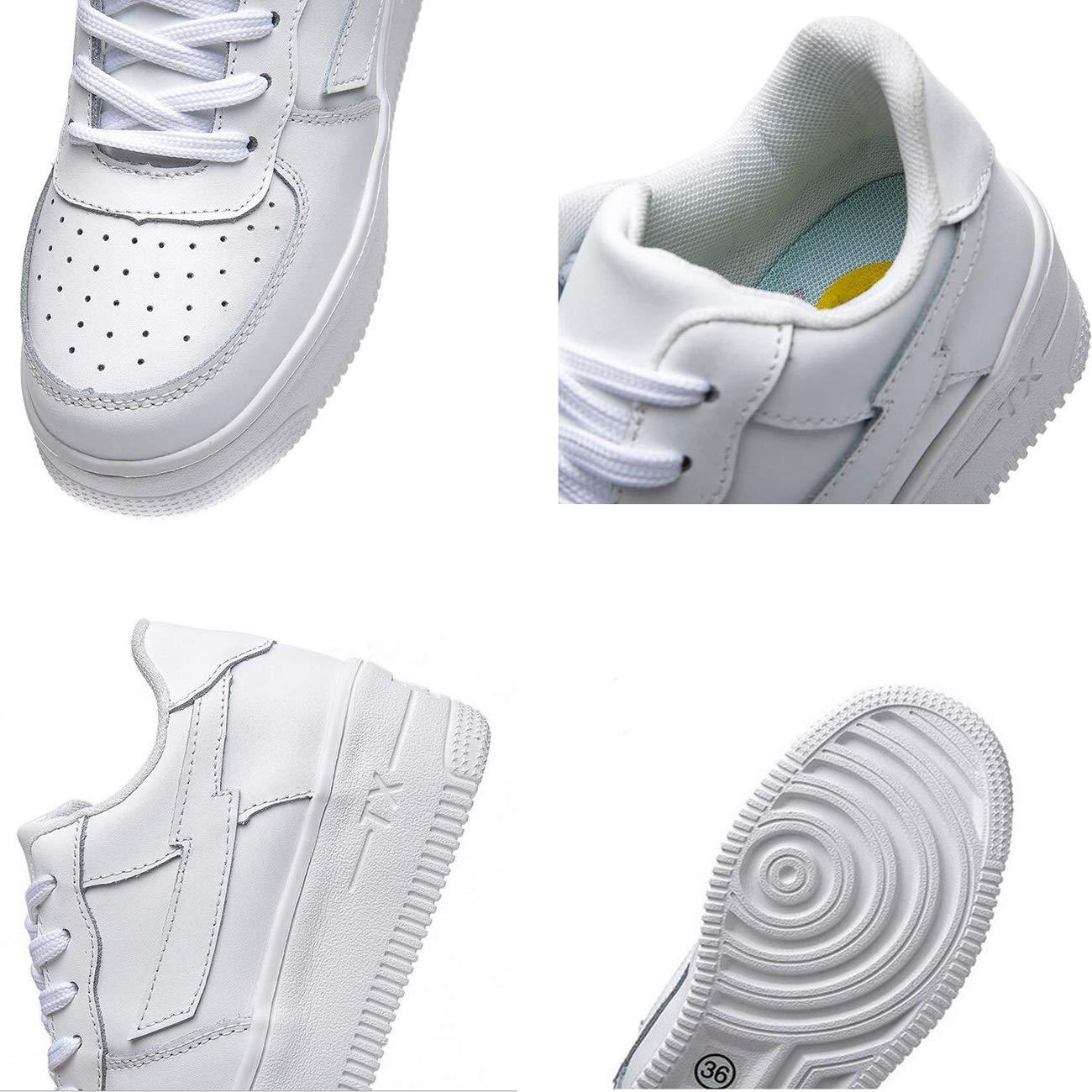 Hy Damen Freizeitschuhe Leder Frühjahr Herbst-Komfort-Turnschuhe dicken Boden erhöhen erhöhen erhöhen Mode einzelne Schuhe Damen Slip-Ons Lace-up Flache Loafers Wanderschuhe Größe  35-39 d29451