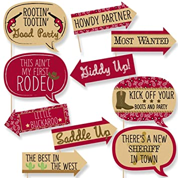 Amazon.com: Funny little vaquero – Western Baby Shower o ...