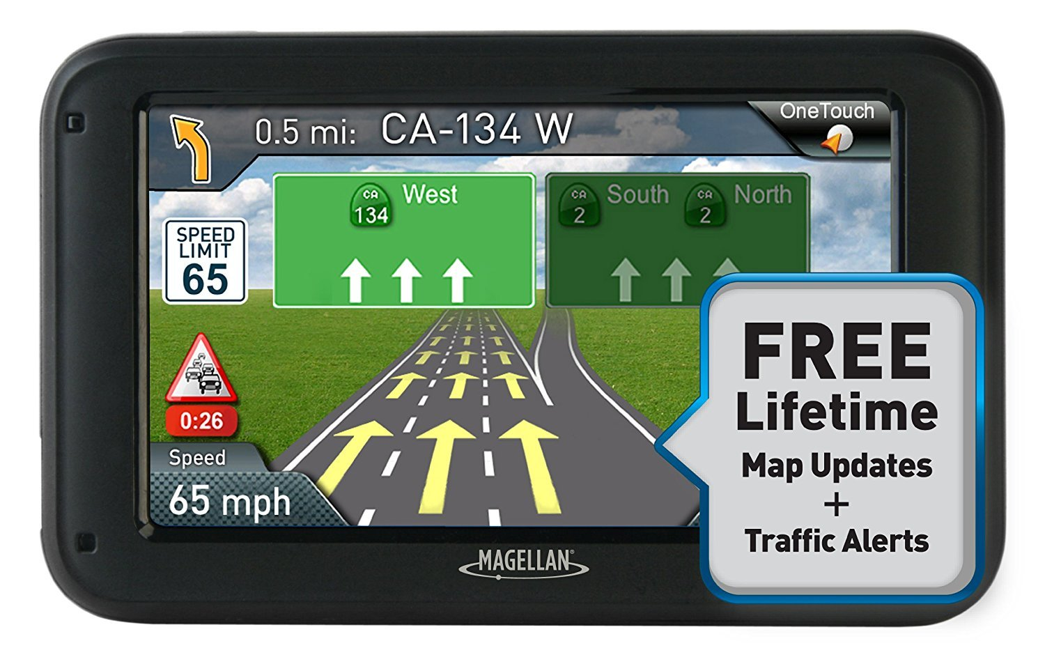 Magellan RoadMate 5230T-LM 5-Inch Navigator with Lifetime Maps and Traffic (Certified Refurbished) by Magellan