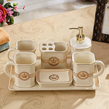 YYY WLQ cuarto de baño europeo de cinco piezas - suministros de baño de cerámica -