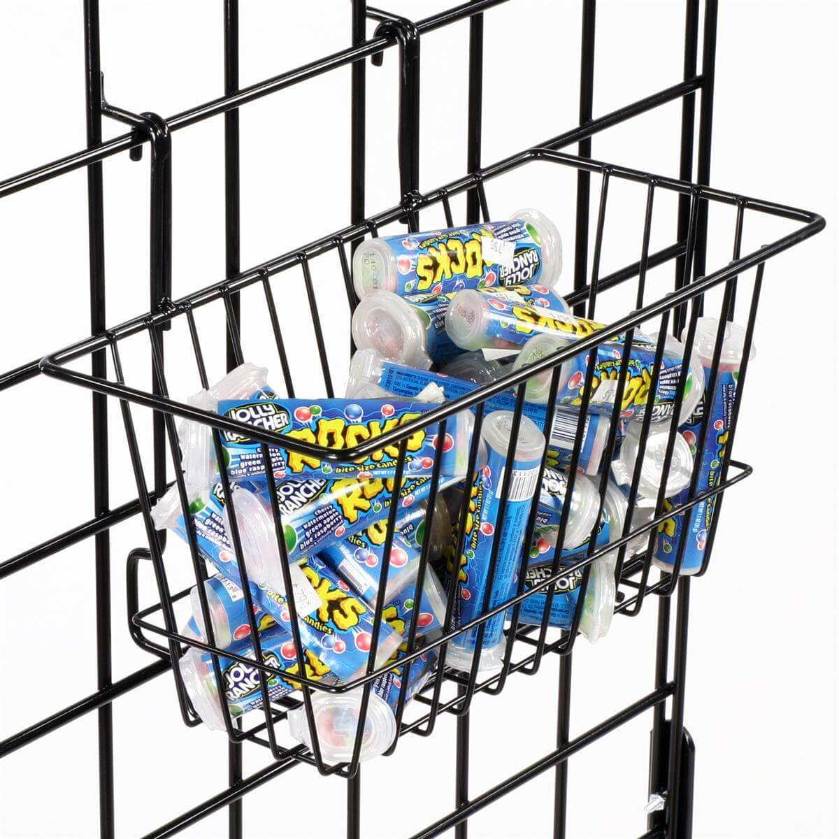 Only Hangers Small Wire Storage Baskets for Gridwall, Slatwall and Pegboard - Black Finish - Dimensions: 12'' x 6'' x 6'' Deep - Economically Sold in a Set of 6 Baskets by Only Hangers (Image #6)