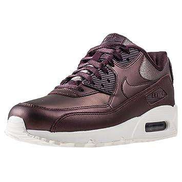 sports shoes 8e610 05ef2 Nike Air Max 90 Premium Metallic, Damen Durchgängies Plateau Sandalen mit  Keilabsatz, Rot -