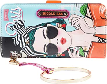 Color and Style Mini Clutch Wallet with Exclusive Print and Detachable Bracelet Wristlet and RFID Blocking
