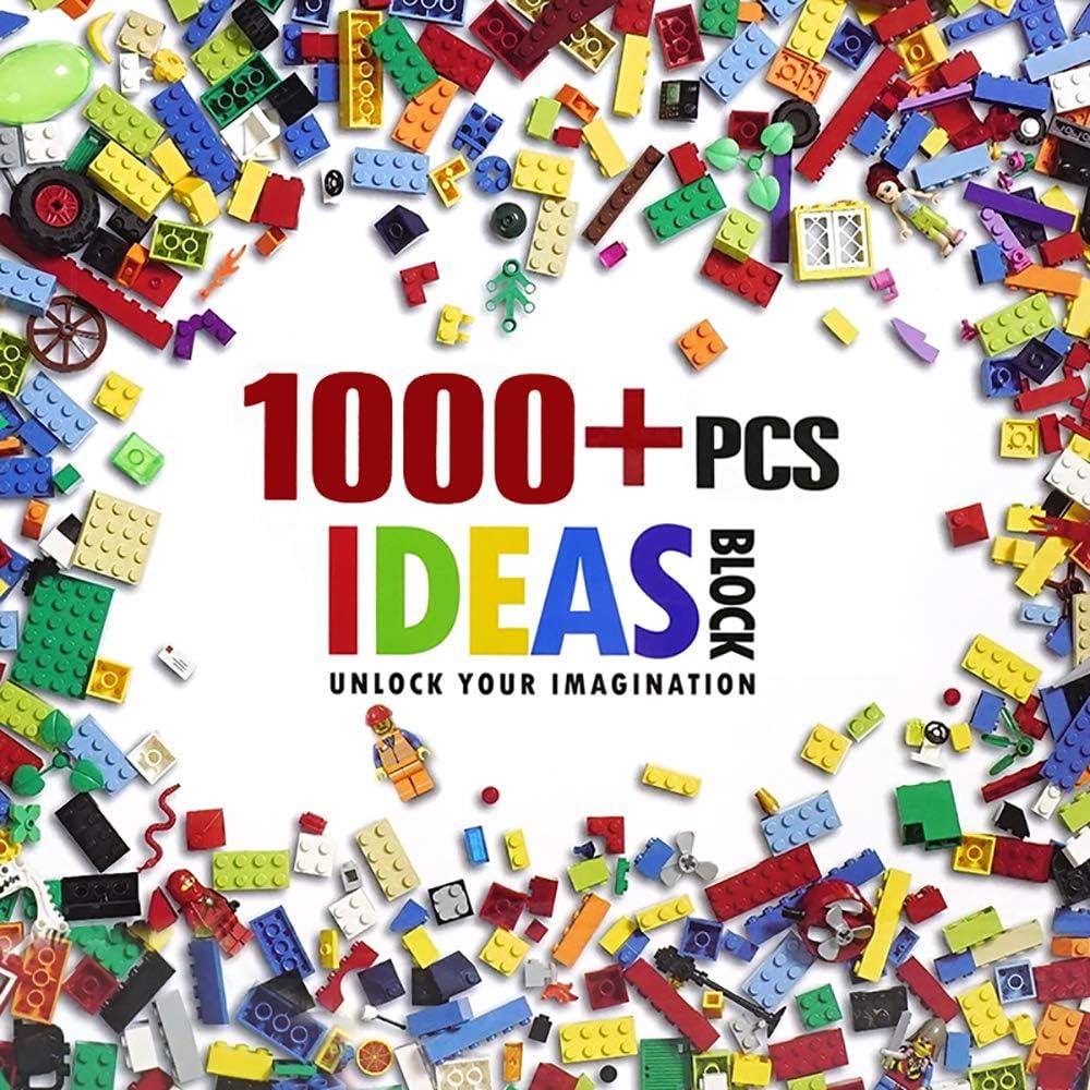 wanjing Bloques de construcción Accesorios de Varias Formas 1000 Piezas Compatible con Todas Las Marcas Principales Ladrillos para niños de 6 años de Edad Juguete para niños
