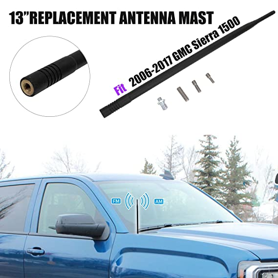 Designed for Optimized FM//AM Reception TEKK Short Antenna Compatible with Chevy Corvette 1997-2004 4.8 Inches