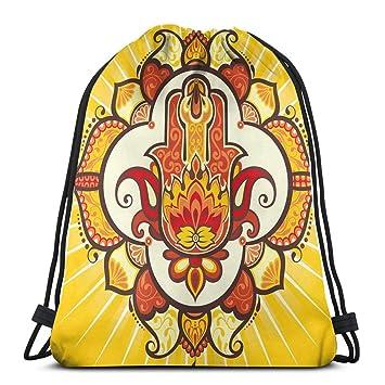 Jiger Drawstring Tote Bag Gym Bags Storage Backpack, Ethnic ...