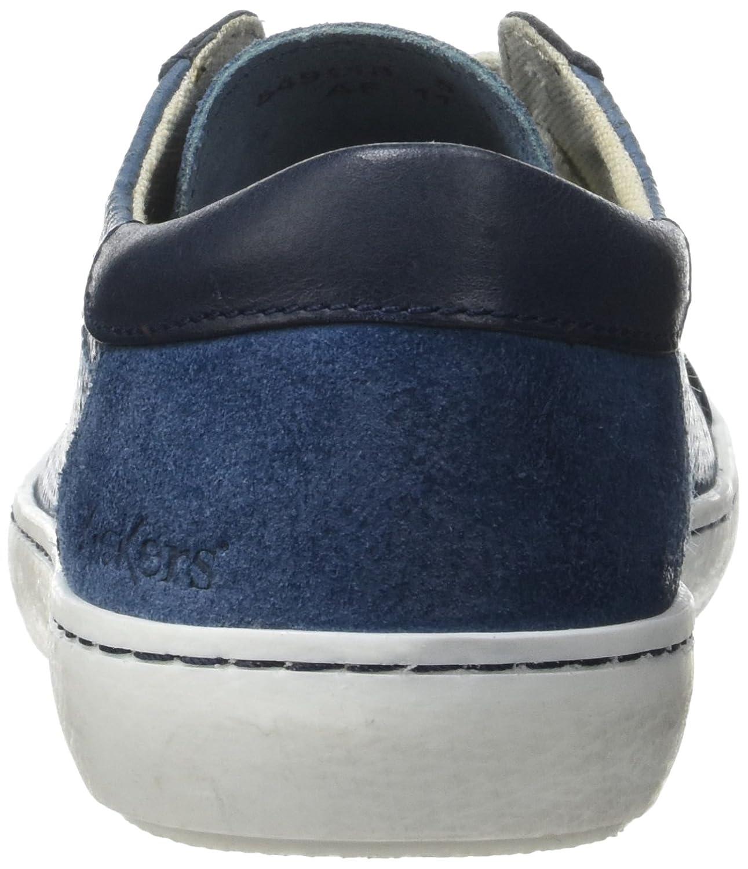 LYZGF Hommes Gentleman Affaires Occasionnels Mode Jeunes Mariages Hasp Chaussures en Cuir,Blue-38