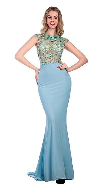 Bridal_Mall - Vestido de novia - Mujer Azul Sky-Blue 48