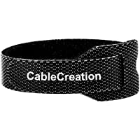 Cable Ties,CableCreation 50PCS Reusable Hook and Loop Cord Ties Quickly Fastening Organizer Cord, Nylon Adjustable Cable…