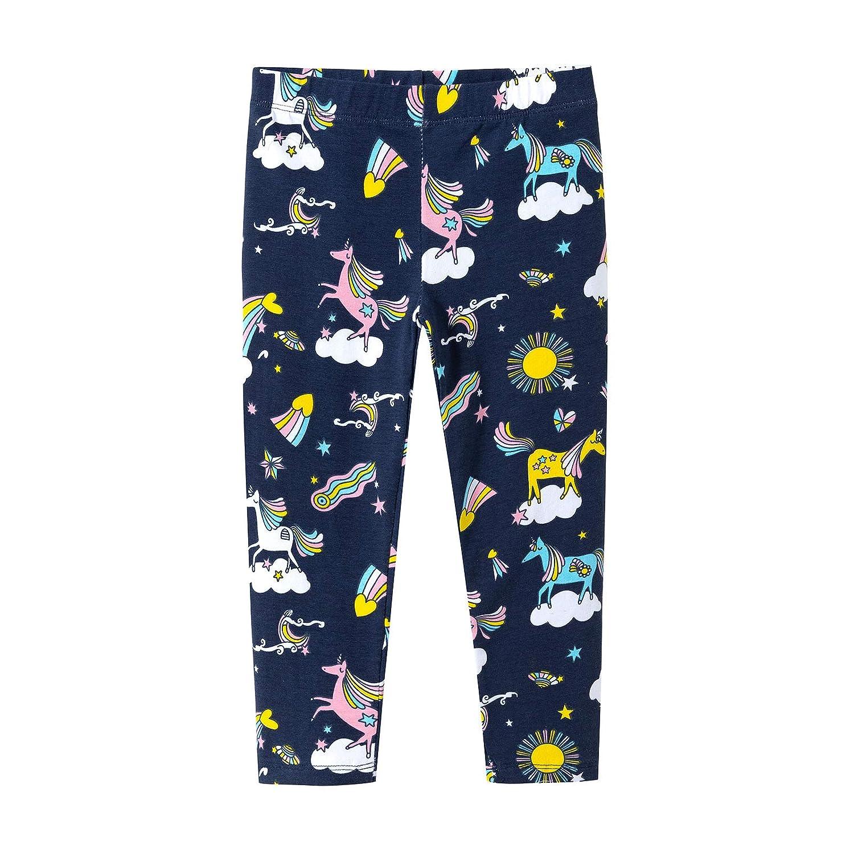 Baby Girls Printing Cartoon Unicorn Cotton Long Leggings Tight Pants