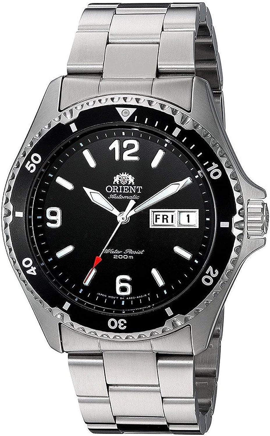 Orient Reloj Analógico para Unisex Adultos de Automático con Correa en Acero Inoxidable FAA02001B3