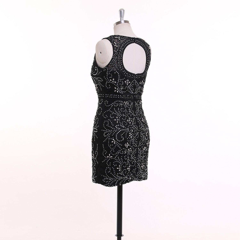 a84fed6d32cb1 It's yiiya Black Cocktail Dress Wedding Gust Dresses Sexy Crystal ...
