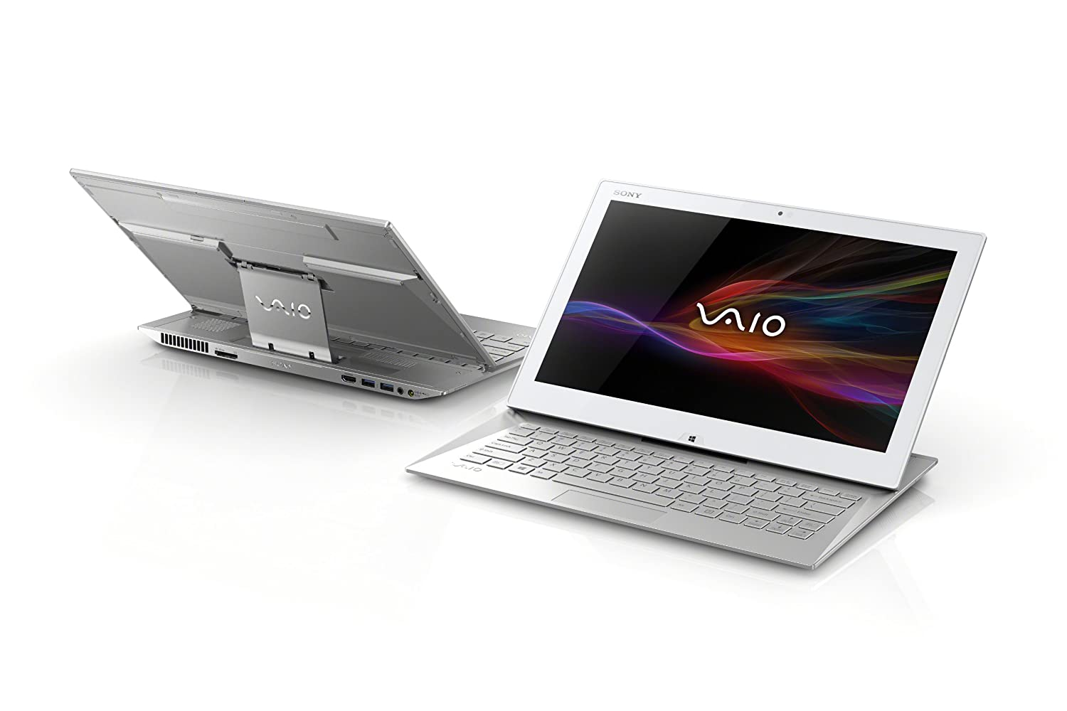 sony vaio laptop. sony vaio duo 13 touchscreen laptop convertible ultrabooktm svd1321m2ew (silver): amazon.co.uk: computers \u0026 accessories