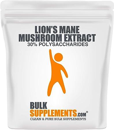 BulkSupplements.com Lion's Mane Mushroom Extract - Brain Booster Supplement for Focus, Memory, Clarity, Energy (500 Grams - 1.1 lbs - 500 Servings)