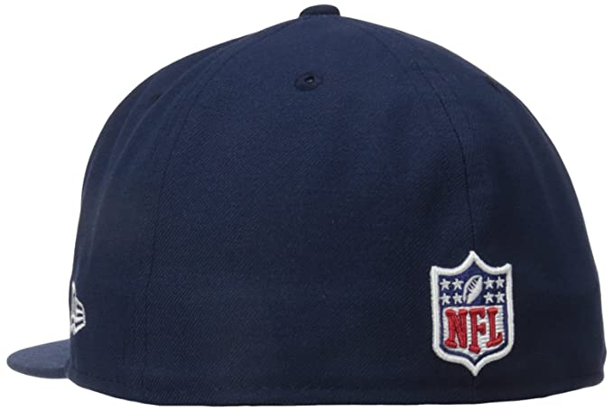 ff371f8a22670 NFL Mens New England Patriots On Field 5950 Navy Game Cap By New Era