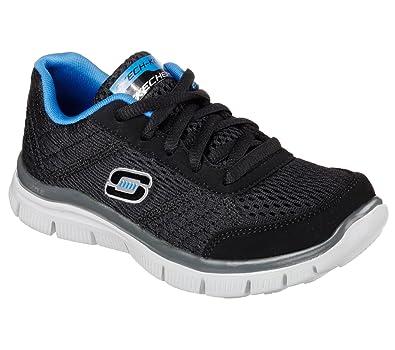 Skechers Kids Boys' Equalizer 2.0-97384L Sneaker, Black/Gray, 6.5 M US Big Kid