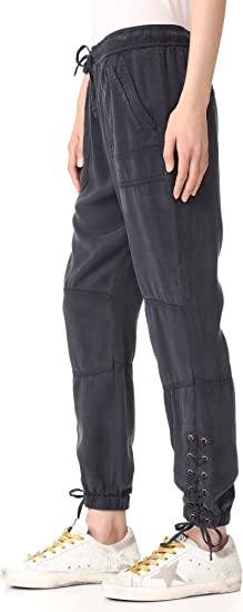Pam /& Gela Womens Sweat Pant W//Uneven Hem