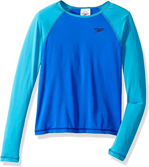 Speedo Girls Uv Swim Shirt Long Sleeve Rashguard