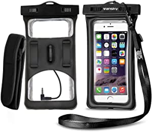 Floatable Waterproof Phone Case, Vansky Waterproof Phone Pouch with Armband and Audio Jack for Iphone XS Max, 8 Plus, 7 Plus, 6S, Sansung LG Huawei