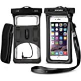 Floatable Waterproof Phone Case, Vansky Waterproof Phone Pouch Dry Bag with Armband and Audio Jack for iPhone X, 8 Plus, 8, 7 Plus, 7, 6s, 6, Andriod; TPU Construction IPX8 Certified