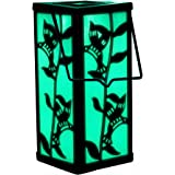 Hanging Lantern Color Changing Christmas Decoration Solar Hummingbird Garden Outdoor Light For Home Patio Deck Lawn Yard Holiday Decor