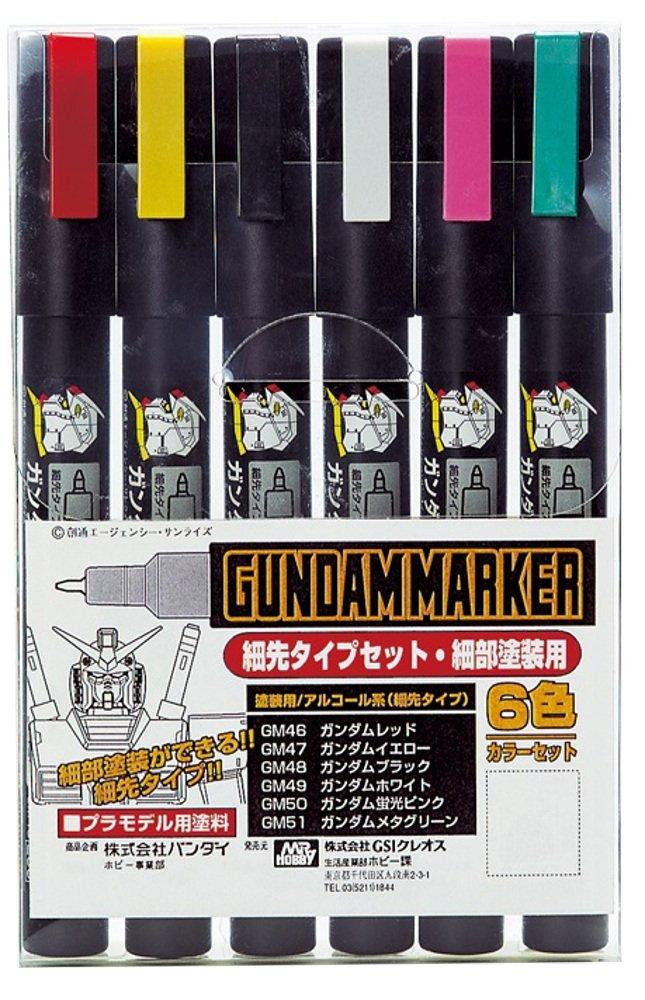 Gundam Marker GMS110 GUNPLA Slight SET GM46-51 Pennarelli (6) No Name GSI Creos