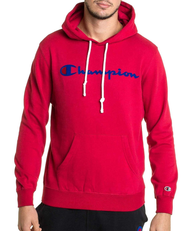 Rouge (Scr Rs008) M Champion Reverse Weave encapuchonné Sweatshirt Sweat-Shirt à Capuche Homme