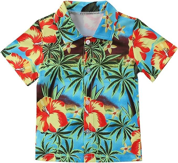 Camiseta Playera con Estampado de árbol de Coco de Boy Beach Camiseta de Manga Corta de Verano para niños pequeños: Amazon.es: Ropa y accesorios