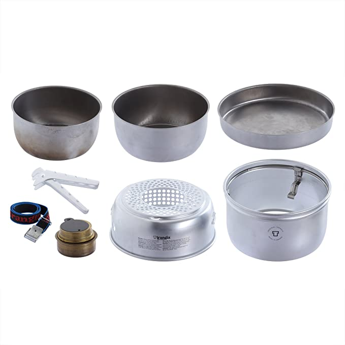 TRANGIA 25-21 UL//D DUOSSAL 2.0 STORM PROOF COOK SET BONUS FREE FUEL BOTTLE