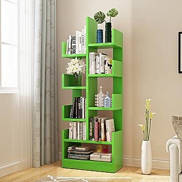 Bookshelf Tree Shaped Floor Standing Bookcase Child Shelf Living Room Space Saving Storage Box