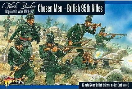 3 Warlord games Napoleonic British 95th rifles