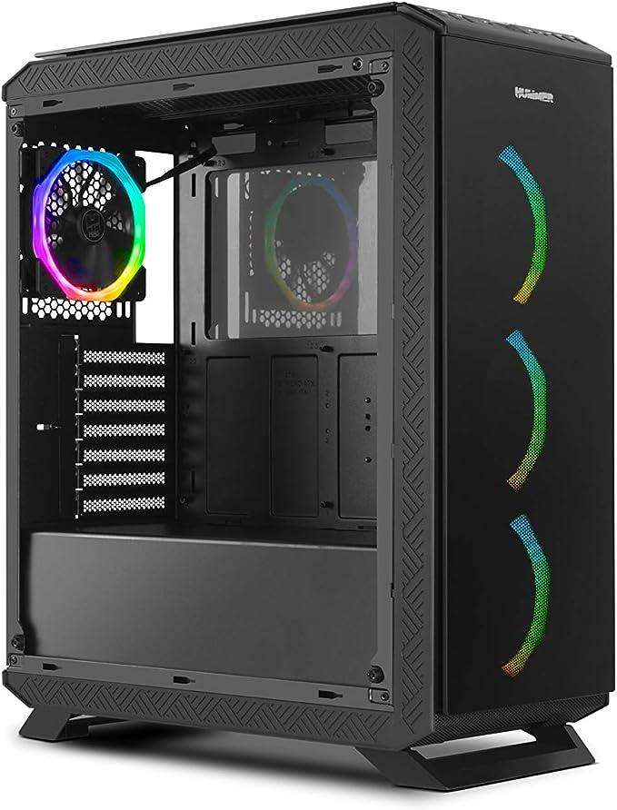 Nox Hummer TGF - NXHUMMERTGF - Caja PC, RGB, Color Negro: Nox: Amazon.es: Informática