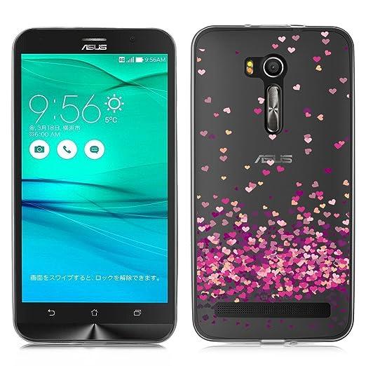 2 opinioni per Asus ZenFone Go ZB551KL Cover , YIGA Colore Cuore Sovrapposto Trasparente