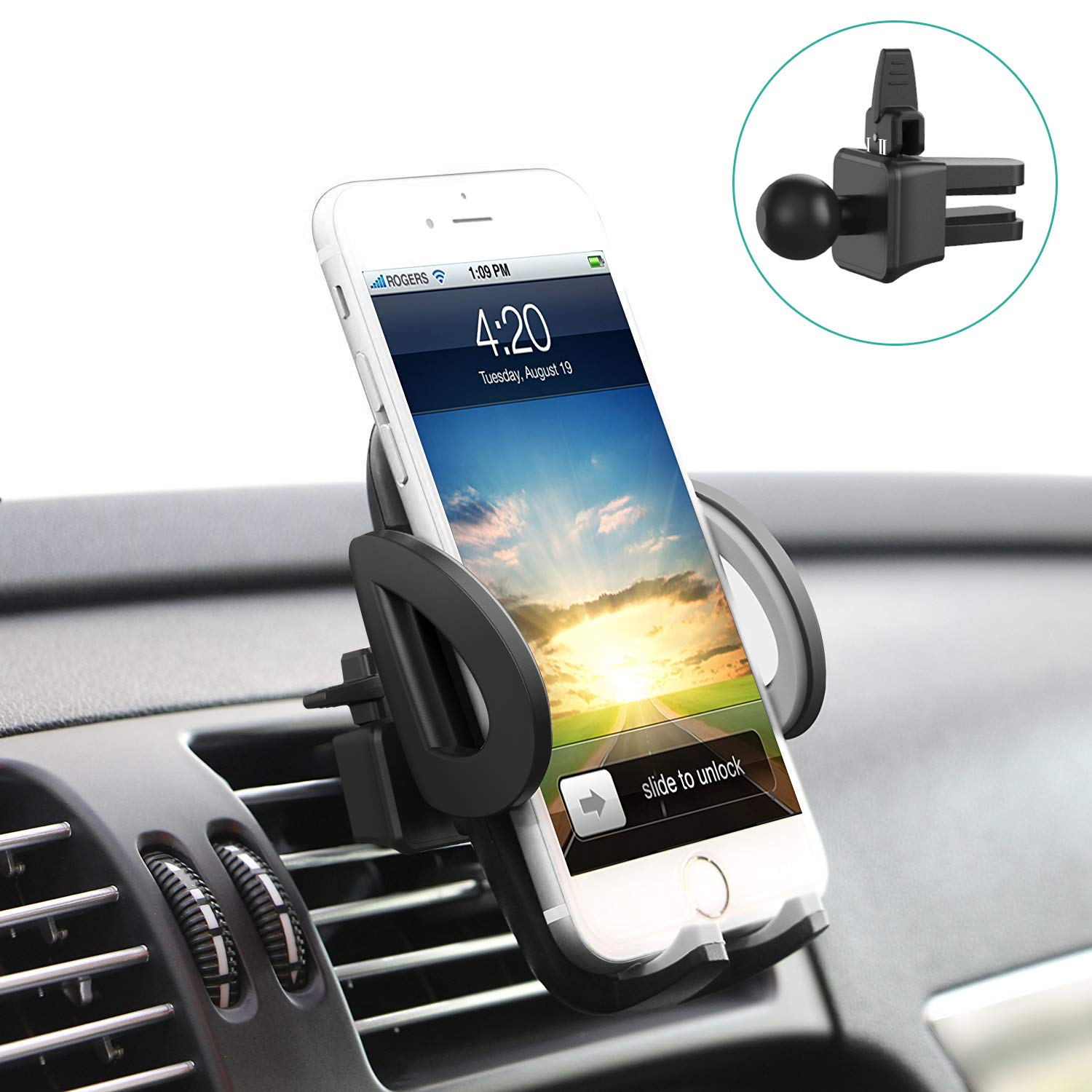 Phone Holder, Avolare Car Phone Holder Universal Air Vent Car Holder  360°Rotation Adjustable Car Mount Hands Free Driving for iPhone X 8 7 7  Plus 6s 6