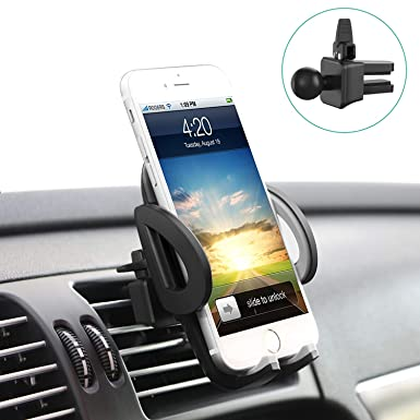 the best attitude 0df8a d337f Phone Holder, Avolare Car Phone Holder Universal Air Vent Car Holder  360°Rotation Adjustable Car Mount Hands Free Driving for iPhone X 8 7 7  Plus 6s ...