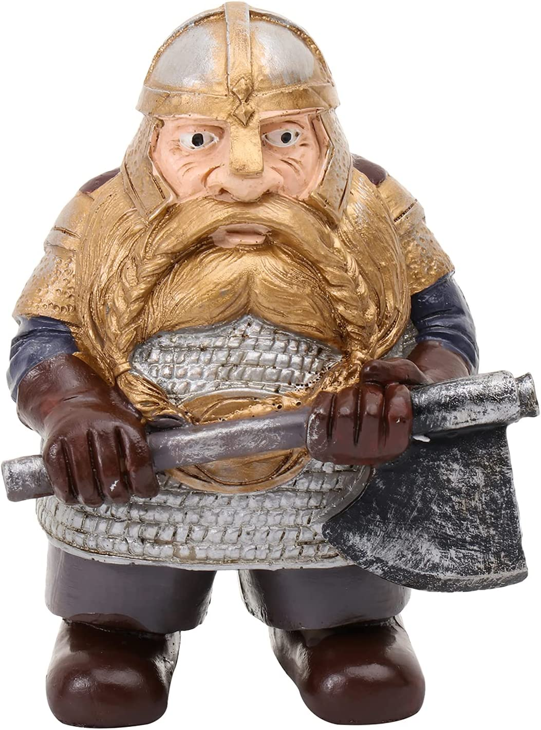 Viking Victor Norse Dwarf Gnome Statue, Ornaments Viking Garden Gnome Full Color Decoration for Home Yard Lawn,Gnome Figurines for Indoor Outdoor Home Yard Decor