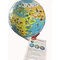 caly Petits voyageurs–Globe du monde gonflable enfant