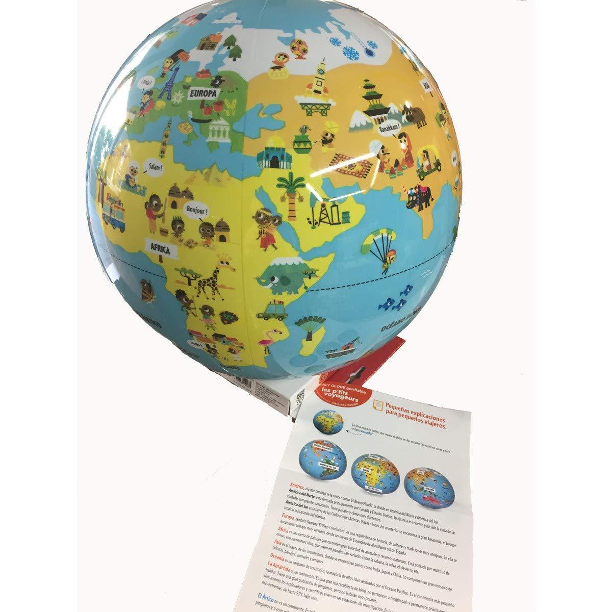 Globo del mundo hinchable infantil Caly Peque/ños viajeros