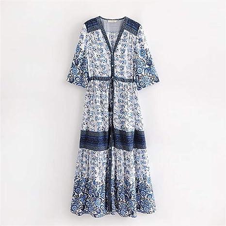 ZBYHCH Elegante Falda Floral de Playa para Mujer Falda Cruzada con ...