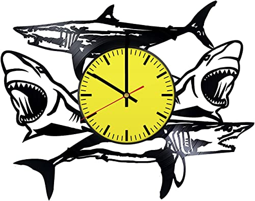 RomanticStuffStore The Sharks Vinyl Record Wall Clock